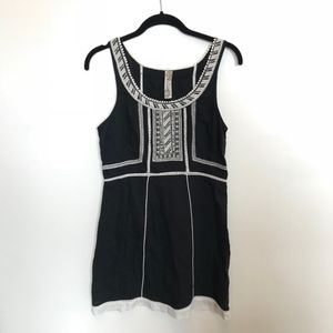 Free People | Black Embroidered Sleeveless Dress
